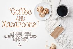 Coffee And Macaroons by Dez Custom Creations on @creativemarket