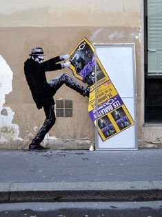 Street-Art de Levalet, Paris