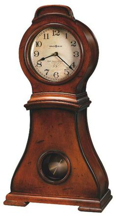 Howard miller chiming quartz mantel clock 635157 Mallory cherry Cherry finish on select hardwoods and veneers features heavy distressing for an aged, hand-crafted look.