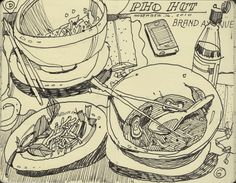 restaurant drawing Illustrations, sketchbook experiments, life drawing, and videos from the desk of Graham Smith Illustration Ink Drawings, Drawing Sketches, Life Drawing, Painting & Drawing, Observational Drawing, Arte Sketchbook, Illustration Art, Illustrations, Sketchbook Inspiration