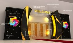 Genting First World 50 Years Celebration Event. Concept Modern, Elegance and Timeless. Arch Gate, Entrance Gates, Entrance Design, Facade Design, Gate Designs Modern, Concert Stage Design, Corporate Event Design, Backdrop Design, Exhibition Stand Design