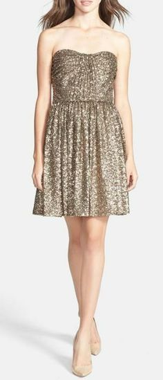 Sparkle into the holiday season with a sequin dress.