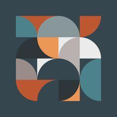 Mid Century Geometric Framed Art Print by The Old Art Studio - Vector Black - Acrylic Box, Clear Acrylic, Iphone Skins, Iphone 8, Acrylic Organizer, Mid Century Art, Old Art, Cute Stickers, Framed Art Prints