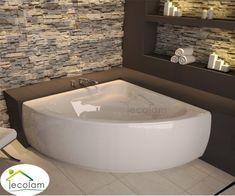 May 2017 – Modisches design ihres hauses Concrete Bath, Cocktail Tables, Bathroom Interior, Corner Bathtub, Wall Design, Window Treatments, Family Room, Shelving, Interior Decorating