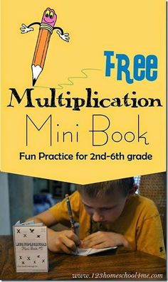 Multiplication Mini Book - this is such a fun way for kids to practice that is way better than math worksheets! FREE printable for 2nd grade 3rd grade 4th grade 5th grade and 6th grade #mathtutor #studymathonine
