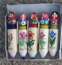 matryoshka doll pencils