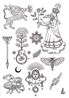 Image result for tiger tattoo stick and poke