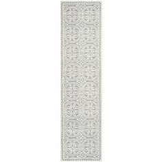 Safavieh Handmade Cambridge Moroccan Silver/ Ivory Rug (2'6 x 10')