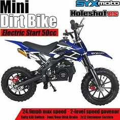 Details About Syxmoto Electric Start Mini Dirt Bike Gas 2 Stroke