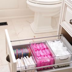 Bathroom organisation - Love a good secret stash 💗 home bathroom storage BathroomStorage Bathroom Organisation, Bathroom Storage, Organized Bathroom, Bathroom Ideas, Bathroom Interior, Girl Bathroom Decor, Bathroom Shelves, Small Bathroom, Teen Bathrooms