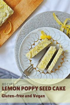 Poppy Seed Cake with Lemon Icing. Gluten-free & Vegan & Delicious!