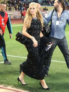 Paris Hilton wearing Christian Louboutin Daffodile Pumps in Black ...