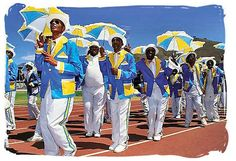 The Kaapse Klopse.  A look into the colourful, cultural Cape Town Minstrel Carnival.  http://www.capetownmagazine.com/whats-the-deal-with/the-kaapse-klopse/125_22_18929