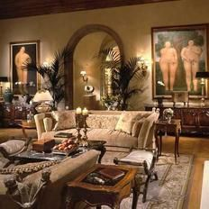 Love the decor in this room minus the naked people vainly trying to cover themselves up.
