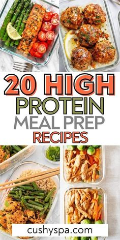 Healthy High Protein Meals, Easy Healthy Meal Prep, High Protein Recipes, Easy Healthy Recipes, Lunch Recipes, Easy Meals, Dinner Healthy, Healthy Eating, Make Ahead Meals