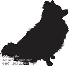 Pomeranian Silhouette Clipart Image