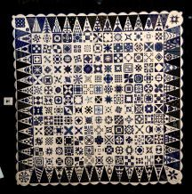 """Hommage for Dear Jean"""" by by Panni Szabo. Photo: Thomas B. Shea / HC  Hungarian Blue Dyed Quilts"""