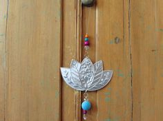 Lotus Flower Art Metal Work Eclectic Decor Hanging by FoilingStar