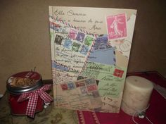 Journal  French Writing  Postal Cards  Journaling by ShoppeLaFluer, $16.00