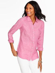 Linen Shirt-Cross-Dyed - Talbots
