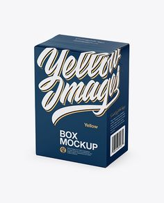 Box Mockup - Half Side View