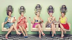 Women at the beauty parlor #hairdryer #beautyparlor - Carefully selected by GORGONIA www.gorgonia.it