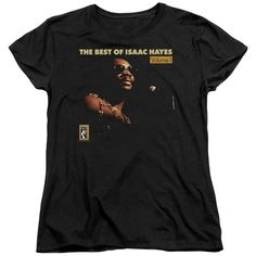 ISAAC HAYES/CHAIN VEST - S/S WOMEN'S TEE - BLACK -