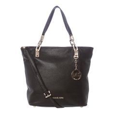 This is one bag you'd be sure to get tons of use from | MICHAEL Michael Kors 'Brooke' Medium Black Leather Tote