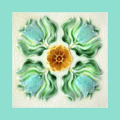 45 Art Nouveau tile. Artist unknown. Please say if you know. Buy as an e-card with a personalised greeting!