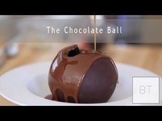 Hollow chocolate ball with ice cream, fruit, mousse, etc. Also, how to temper chocolaye