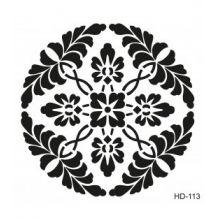 Home Decor (Duvar) Stencıl 45*45 cm HD-113 Stencil, Stenciled Table, Stenciling