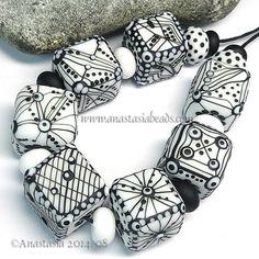 ANASTASIA-lampwork-beads-7-GEOMETRIC-SRA http://www.ebay.com/itm/261578584726?ssPageName=STRK:MESELX:IT&_trksid=p3984.m1555.l2649