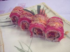 Red Devil Roll Sushi Style, Sushi Art, Tempura, Sashimi, Japanese Food, Devil, Rolls, Yummy Food