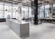 Sztokholmska restauracja w fabryce