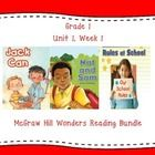 This first grade interactive journal is aligned to Common Core and to the McGraw Hill Wonders series for Unit 1 Week 1. These journal entries allow...