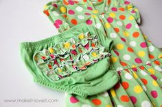 altering baby clothes: long to short sleeves