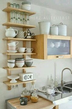 I like these shelves better than cabinets