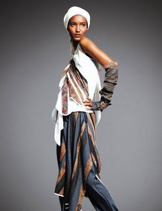 #ethnic #tribal #obsession Fatima Siad in Carmen Chen Wu design photographed by David Wang