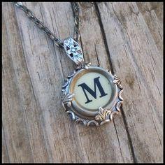 $24.00 from www.etsy.com (KeysAndMemories) Vintage Typewriter Key Wrap Necklace Letter M