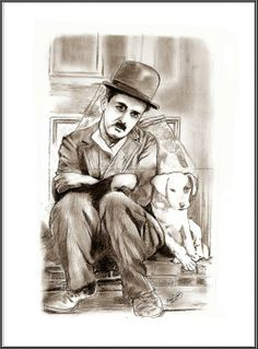 Portrait of Charlie Chaplin by cipta on Stars Portraits, the biggest online gallery for celebrity portraits. Art Drawings Sketches, Cool Drawings, Pencil Drawings, Wood Burning Patterns, Celebrity Portraits, Charlie Chaplin, Online Gallery, Pyrography, Pencil Art