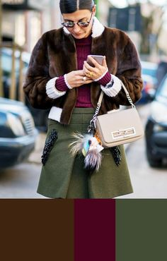 BROWN-BURGUNDY-ARMY -  5 Winter Color Combinations Guaranteed to Look Stylish via @WhoWhatWear