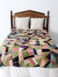 antique silk crazy quilt                                                       …
