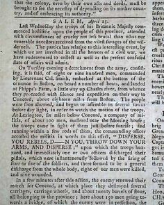 the battle of lexington concord began on see  historic newspaper coverage of the battle of lexington concord pennsylvania evening post