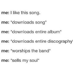 This is me with the many bands that I love