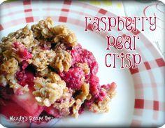 Raspberry Pear Crisp