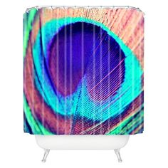 DENY Designs Pretty Peacock Shower Curtain