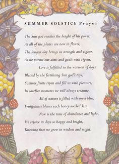 Summer Solstice:  #Summer #Solstice Prayer.