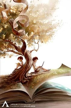 Cute illustration, that show beautifulnest of books. world of books I Love Books, Good Books, Book Wallpaper, Reading Art, World Of Books, Book Images, Pics Art, Surreal Art, Book Photography