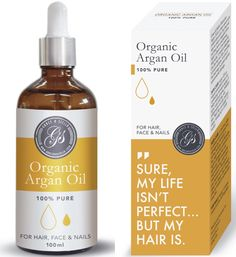 100% ORGANIC Argan Oil For Hair, Skin, Face, Nails, Beard and Cuticles - Best 100% Pure Moroccan Anti Aging, Anti Wrinkle Beauty Secret, EcoCert Certified Cold Pressed Moisturizer Beauty 3.4 Oz (100ml) * Trust me, this is great! Click the image. : Travel Hair care
