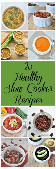 23 Healthy Vegan Slow Cooker Recipes. Many are also gluten free and grain free. Easy and budget friendly too.